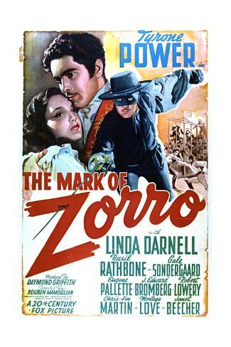 The Mark of Zorro - Movie Poster Reproduction Art Print