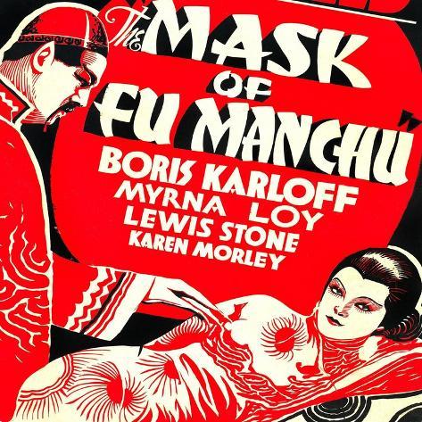 The Mask of Fu Manchu, Boris Karloff, Myrna Loy, 1932 Konstprint