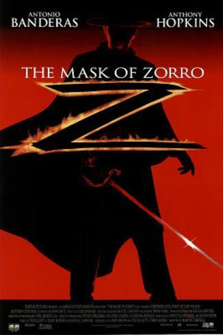The Mask of Zorro Movie, Silhouette, Original Poster Print Original Poster