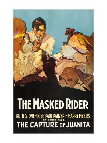 The Masked Rider - the Capture of Juanita Art Print