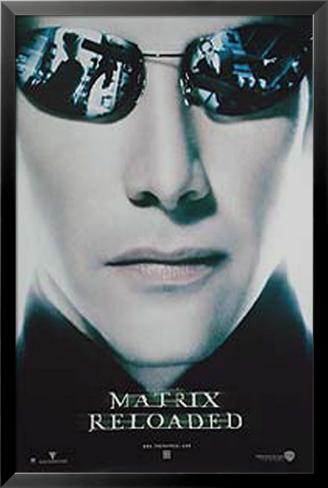 The Matrix Reloaded - Morpheus Póster enmarcado con plástico protector