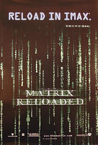 The Matrix Reloaded Original Poster