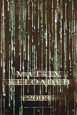 The Matrix Reloaded Impressão artística emoldurada