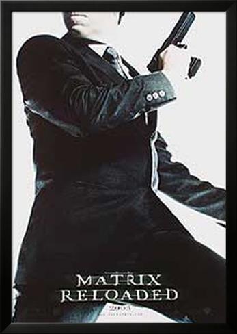 The Matrix Reloaded Lamina Framed Poster