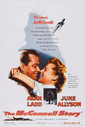 The Mcconnell Story, from Left: Alan Ladd, June Allyson, 1955 Art Print