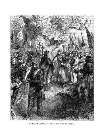 The Meeting of King Henry III of England and King Louis IX of France on the Plain Near Gisors Giclee Print