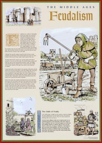 The Middle Ages - The Feudal System Art Print