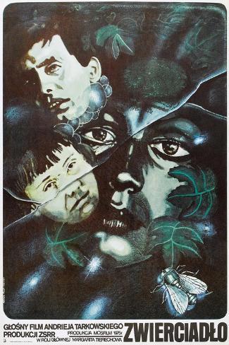 The Mirror, Polish poster, (aka Zerkalo), 1975 Art Print