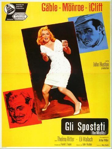 The Misfits, Italian Movie Poster, 1961 Art Print