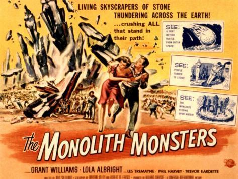 The Monolith Monsters, Grant Williams, Lola Albright, 1957 Photo