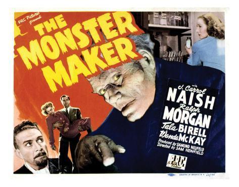 The Monster Maker - 1944 Giclee Print