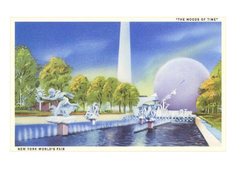 The Moods of Time, New York World's Fair Pool Art Print