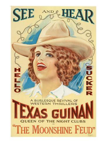 The Moonshine Feud, Texas Guinan, 1920 Photo