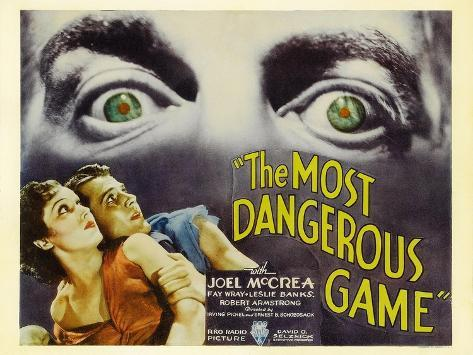 The Most Dangerous Game, 1932 Art Print