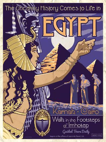 The Mummy - Universal Monsters Vintage Travel Lithograph Poster