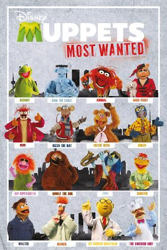 The Muppets Most Wanted - Characters Poster
