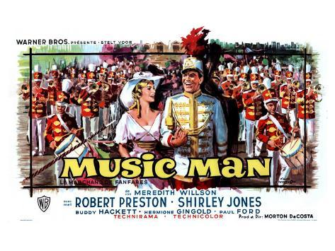The Music Man, Belgian Movie Poster, 1962 Konstprint