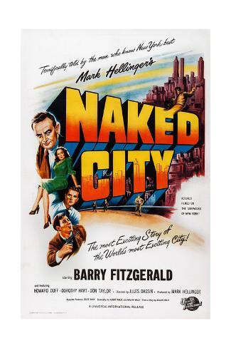 The Naked City Impressão giclée
