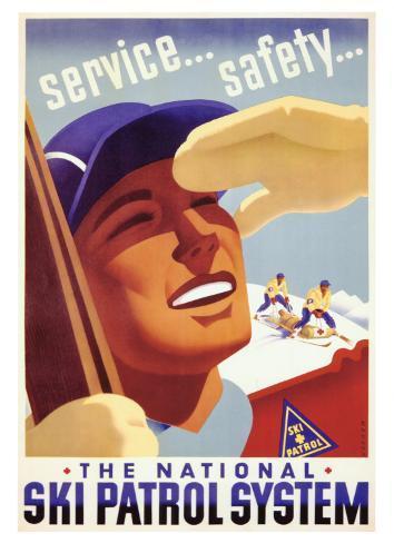 The National Ski Patrol System Giclee Print