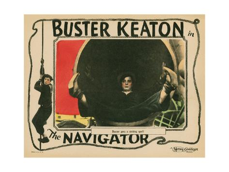 The Navigator, Buster Keaton, 1924 Giclee Print