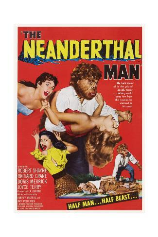 The Neanderthal Man, Robert Shayne (Top), 1953 Art Print