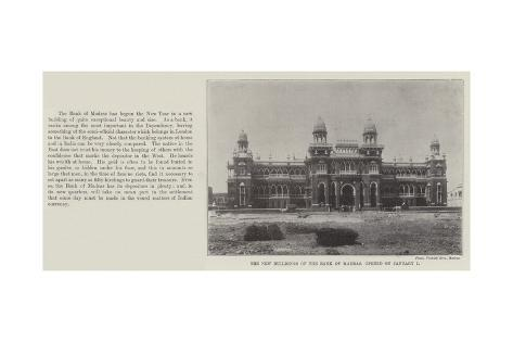 The New Buildings of the Bank of Madras, Opened on 1 January Giclee Print