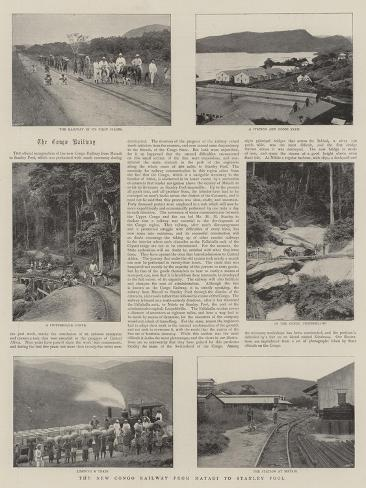 The New Congo Railway from Matadi to Stanley Pool Stampa giclée