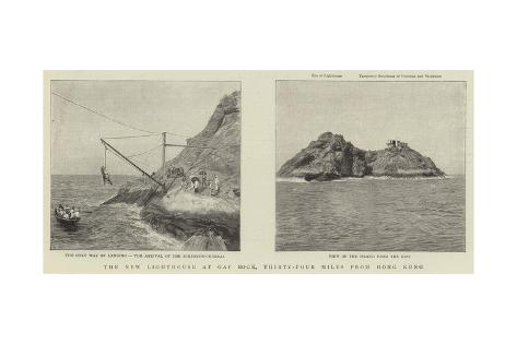 The New Lighthouse at Gap Rock, Thirty-Four Miles from Hong Kong Giclee Print