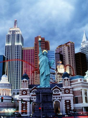 The New York New York Hotel in Las Vegas Photographic Print