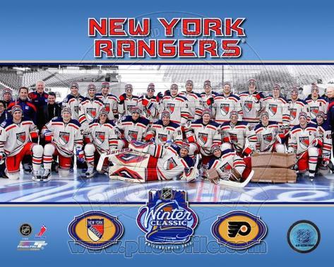 The New York Rangers 2012 NHL Winter Classic Team Photo Photo