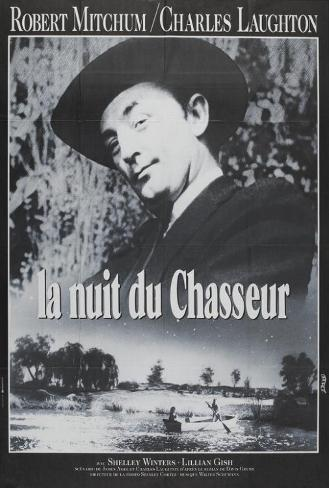 The Night of the Hunter - French Style Pôster