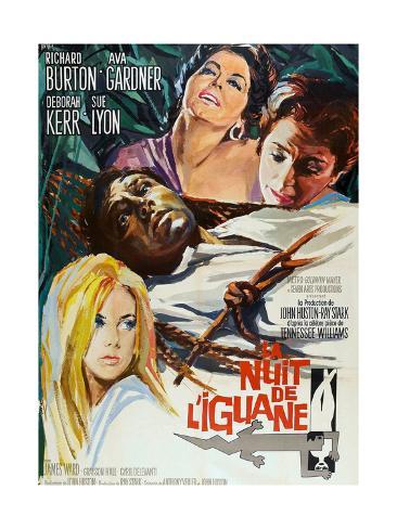 The Night of the Iguana, (AKA La Nuit De L'Iguane), French Poster Art, 1964 Giclee Print