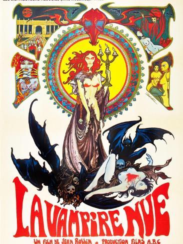 The Nude Vampire, (aka La Nue Vampire), 1970 Stampa artistica