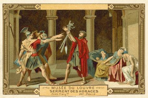 The Oath of the Horatii Lámina giclée