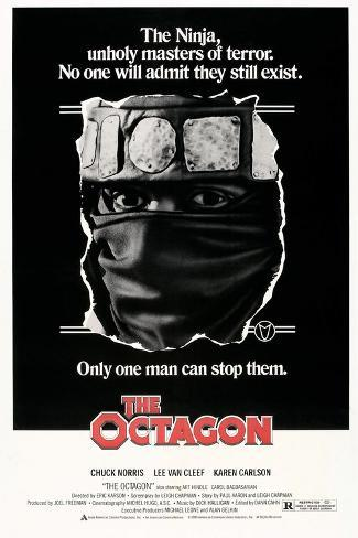 THE OCTAGON, US poster, Chuck Norris, 1980. © American Cinema Releasing/courtesy Everett Collection Stampa artistica