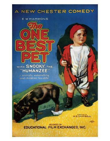 The One Best Pet - 1920 Giclee Print