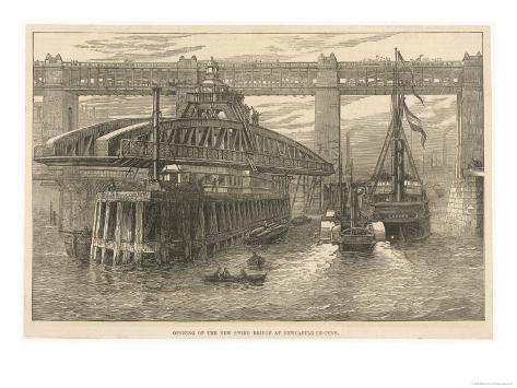 The Opening of the New Swing Bridge at Newcastle-On-Tyne on June 15th 1876 Giclee Print