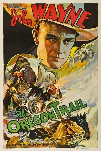 THE OREGON TRAIL, (poster art), John Wayne, 1936 Stampa artistica