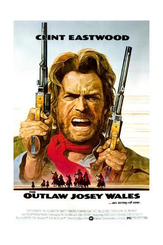 The Outlaw Josey Wales - Movie Poster Reproduction Stampa artistica