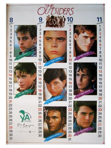 The Outsiders, Japanese Movie Poster, 1982 Stretched Canvas Print