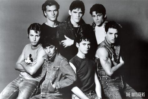 the outsiders movie group poster print posters at allposters com