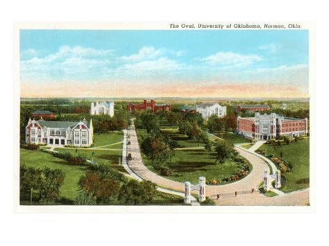 The Oval, University of Oklahoma, Norman Art Print