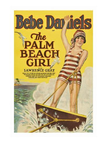 The Palm Beach Girl Art Print