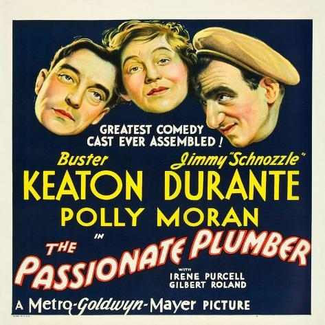 THE PASSIONATE PLUMBER, from left: Buster Keaton, Polly Moran, Jimmy Durante, 1932. Art Print
