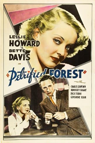 THE PETRIFIED FOREST, top: Bette Davis, bottom from left: Bette Davis, Leslie Howard, 1936. Stampa artistica