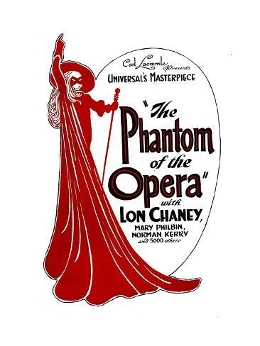 THE PHANTOM OF THE OPERA, 1925. Premium-giclée-vedos