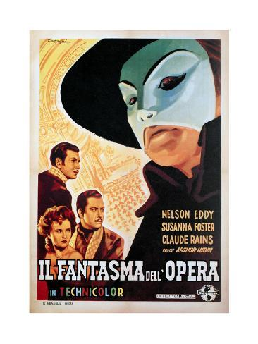 The Phantom of the Opera, (aka Il Fantasma Dell Opera), 1943 Impressão giclée