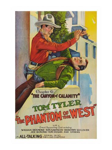 The Phantom of the West - Canyon of Calamity Art Print