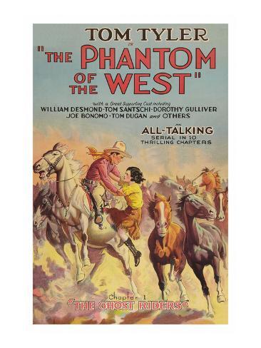 The Phantom of the West - Ghost Riders Art Print