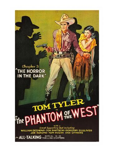 The Phantom of the West - Horror in the Dark Art Print